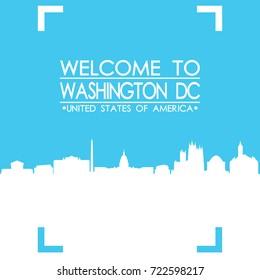 Welcome to Washington DC Skyline City Flyer Design Vector art