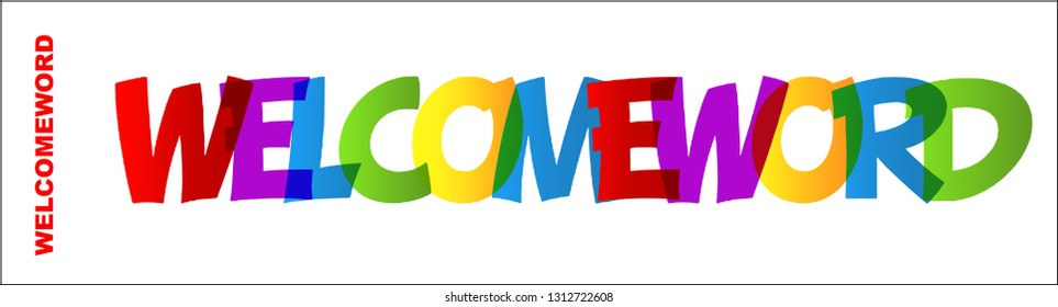 WELCOME WORD rainbow letters