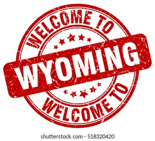 welcome to Wyoming. stamp.