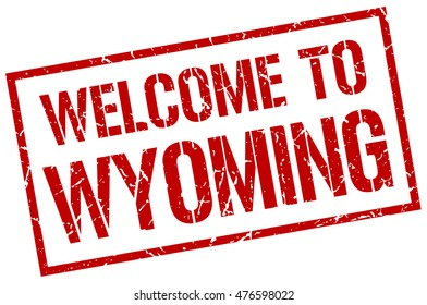 welcome to Wyoming stamp. Wyoming grunge vintage isolated square stamp. welcome to Wyoming.