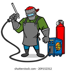 Welder Cartoon Images Stock Photos Vectors Shutterstock