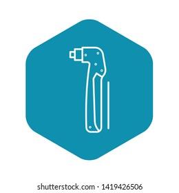Welder electrode holder icon. Outline welder electrode holder vector icon for web design isolated on white background