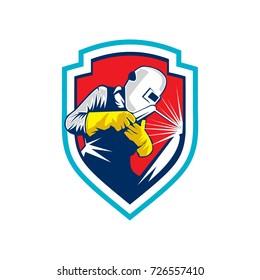 Welder Logo Emblem Vector