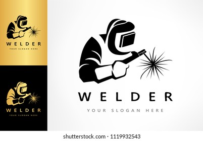 welder logo vector
