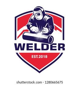 Welder Logo, Welding Emblem