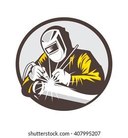 Welder Logo, Welding Logo, Worker