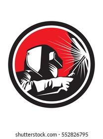 Welder Logo, Welding Logo, Worker Logo