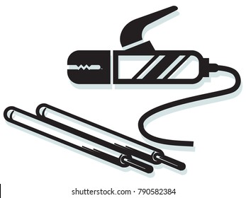 Welding Clamp and Weld Electrode Icon
