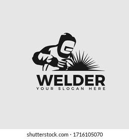 Welding company logo design, CLASSIC WELDER LOGO SIMPLE AND CLEAN LOGO