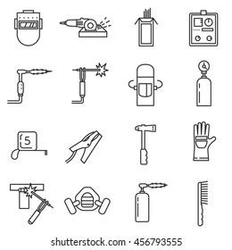 welding tools images, stock photos \u0026 vectors shutterstockwelding icon set welding tools thin line design