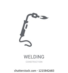 Welding icon. Trendy Welding logo concept on white background from Construction collection. Suitable for use on web apps, mobile apps and print media.