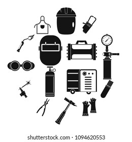 Welding icons set. Simple illustration of 16 welding vector icons for web