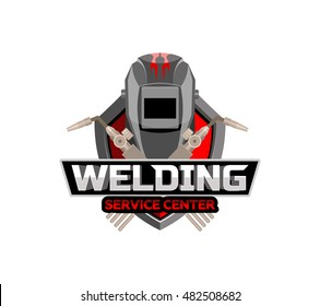 Welding logo emblem badge.