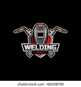 Welding logo icon emblem vector