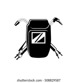 Welding logo for your company. Welding mask and cutting torches