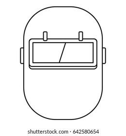 welding helmet images, stock photos \u0026 vectors shutterstock Welding Helmet Outline