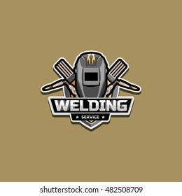 Welding services the logo for the company,  illustration, background, banner, badge
