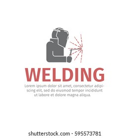 Welding. Vector sign for web graphic.