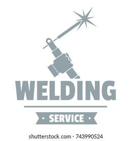 Welding workshop logo. Simple illustration of welding workshop vector logo for web