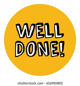Well Done Congratulations Message Card