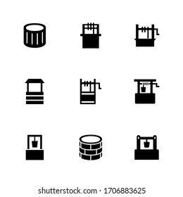 well icon or logo isolated sign symbol vector illustration - Collection of high quality black style vector icons