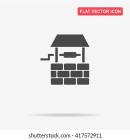 Well icon. Vector concept illustration for design.