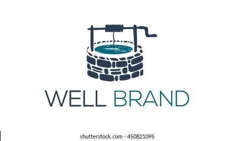 Well vector logo template