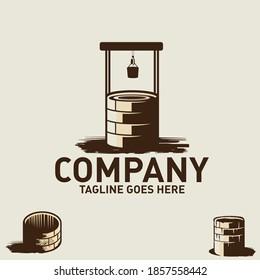 Well vintage illustration symbol concept vector