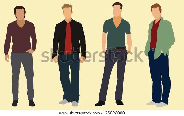 Well-dressed adult men