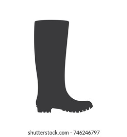 Wellies icon, vector illustration design. Winter collection.