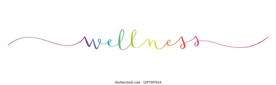 WELLNESS colorful brush calligraphy icon