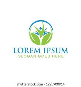 wellness leaf Health Logo design