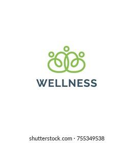 Wellness Logo vector.