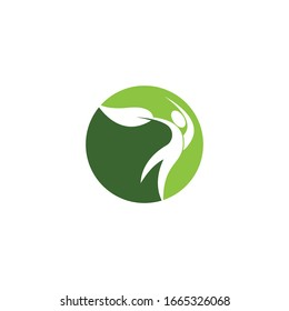 Wellness people health logo vector illustration