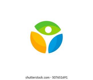 Wellness People Logo Design Template Element