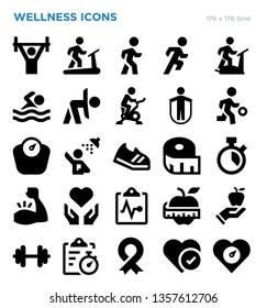 Wellness Vector Icon Set