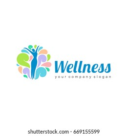 Wellness vector logo design