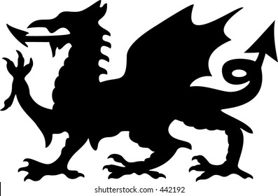 Welsh Dragon Silhouette