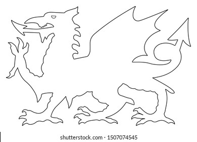 Welsh Dragon Vector illustration eps 10.