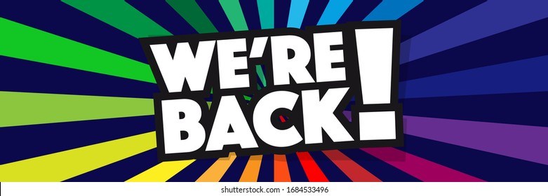 We're Back HD Stock Images | Shutterstock