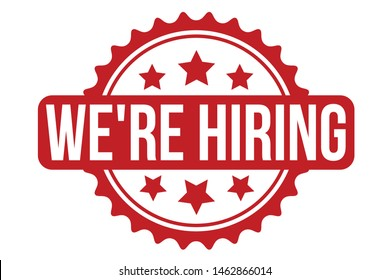 We're Hiring Rubber Stamp. We're Hiring Stamp Seal – Vector