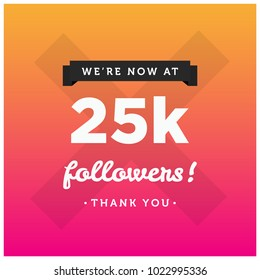 We're Now At 25K Followers Thank You