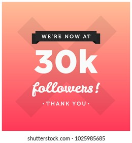 We're Now At 30K Followers Thank You