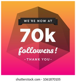 We're Now At 70K Followers Thank You