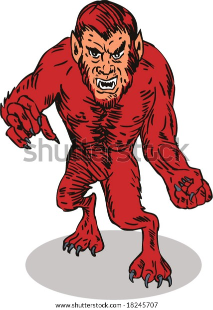Werewolf About Attack Stock Vector (Royalty Free) 18245707