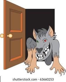 Werewolf come in through door