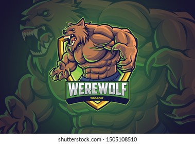 Werewolf esports logo design for your team