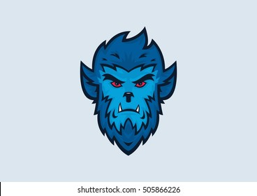 Werewolf Halloween Vector Illustration