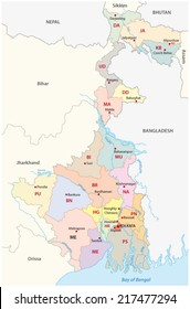 west bengal administrative map