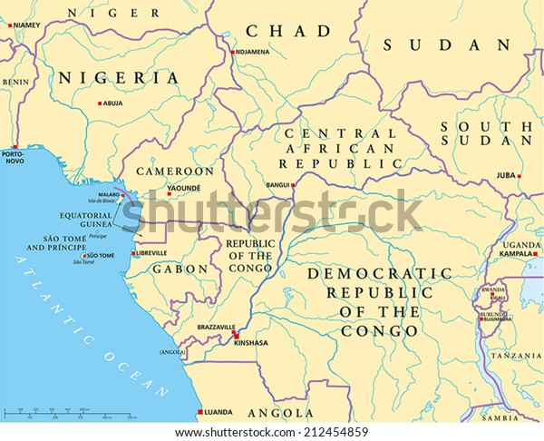West Central Africa Political Map Capitals Stock Vector ... on map of asia physical features, north america rivers map labeled, south america rivers map labeled, africa physical map labeled, south africa map labeled, map of sudan landforms, world maps with countries labeled, u.s. map with rivers labeled, map of ancient india with rivers labeled, world map with rivers labeled, africa with countries labeled, map of texas rivers labeled, map of the rivers in africa, map of united states with states labeled, map of asia countries, map of continents and islands, map of african empires, map of african countries, map of pacific ocean islands, map of egypt,